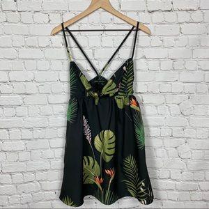 H&M | CMNC | Tropical Print Tie Front Dress SZ S